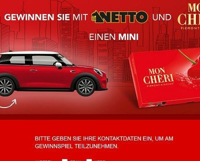 Netto Ferrero Auto Gewinnspiel Mini