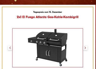 Netto Gewinnspiele 2 El Fuego Gas-Kohle-Kombigrill Adventskalender 2018