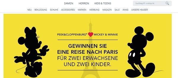 Peek&Cloppenburg Gewinnspiel Paris Reise