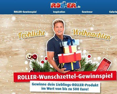 Roller Möbel Weihnachts_Wunschzettel Gewinnspiel 2018