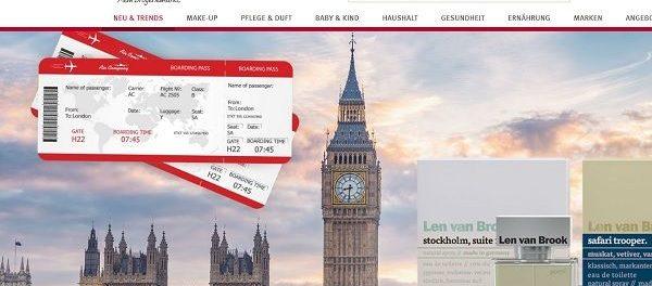 Rossmann Gewinnspiele Len van Brook London Reise