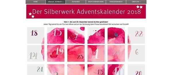 Silberwerk Adventskalender Gewinnspiel 2018 Schmuck gewinnen