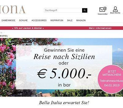 Sizilien Reise oder Geld Gewinnspiel Mona Versand