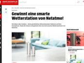 Smart Wohnen Gewinnspiel 3 Netatmo Wetterstationen