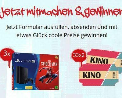 Spiderman Gewinnspiel 3 Sony Playstation 4 Spielkonsolen