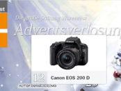 Stiftung Warentest Adventskalender Gewinnspiel Canon EOS 200 D