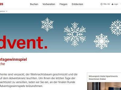 Swiss Dubai Reise Gewinnspiel Adventsverlosung