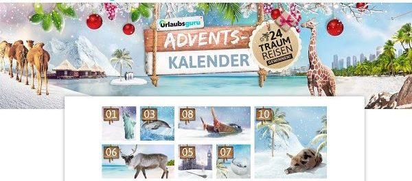 Urlaubsguru Adventskalender Gewinnspiel täglich Reise gewinnen