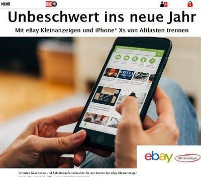 ebay Kleinanzeigen und Bild.de Gewinnspiel Apple iPhone Xs