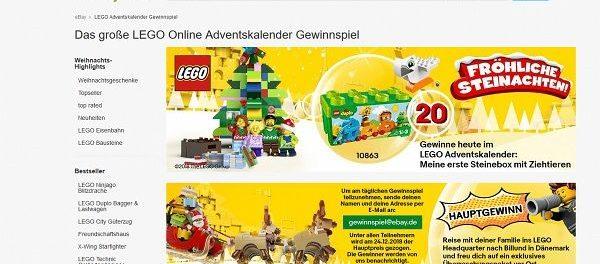 ebay Lego Adventskalender Gewinnspiel
