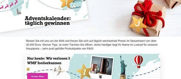 for me online Adventskalender Gewinnspiel 2018