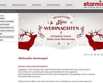 starmix Weihnachts-Gewinnspiel Kehrmaschine gewinnen