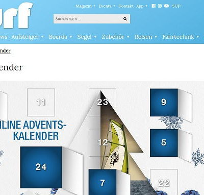 surf Magazin Adventskalender Gewinnspiel 2018
