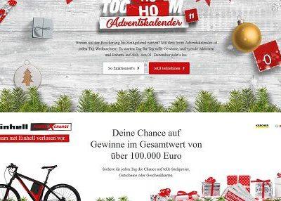toom Baumarkt Adventskalender Gewinnspiel Sachpreise 100.000 Euro