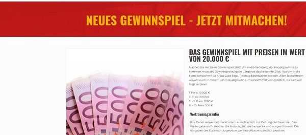 10.000 Euro Bargeld Gewinnspiel Marken sind Gold wert