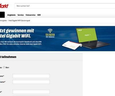 Acer Aspire Notebook Gewinnspiel Media Markt