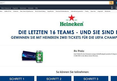 Amazon Gewinnspiel Heineken UEFA Champions League Tickets