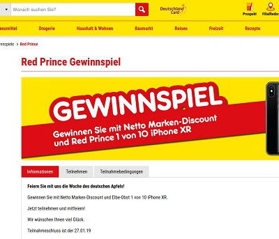 Apple iPhone XR Gewinnspiel Netto Marken Discount