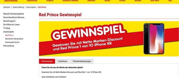Apple iPhone XR Gewinnspiel Netto Marken Discount