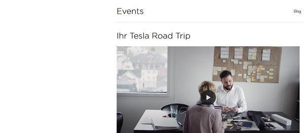 Auto Gewinnspiel Tesla 2 Wochen Road Trip