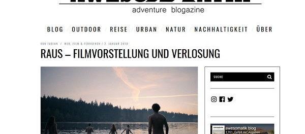 Awesomatik Gewinnspiel Raus Kinokarten und Solar-Powerbank