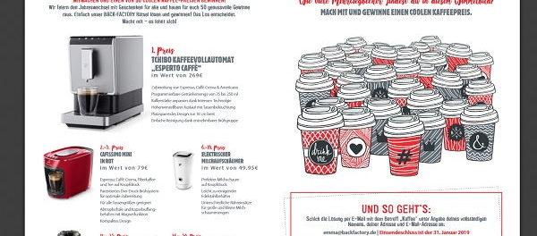 Backfactory Gewinnspiel Tchibo Kaffeevollautomat