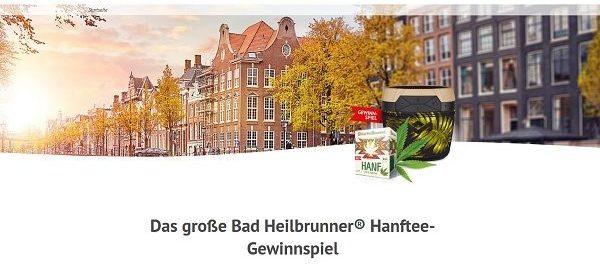 Bad Heilbrunner Hanftee Gewinnspiel Amsterdam Reise