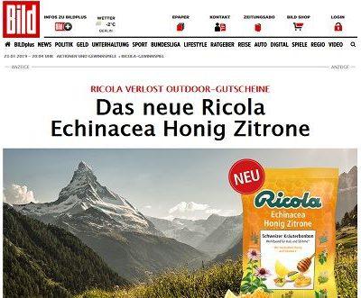 Bild und Ricola Gewinnspiel 3 Globetrotter-Gutscheine 500 Euro
