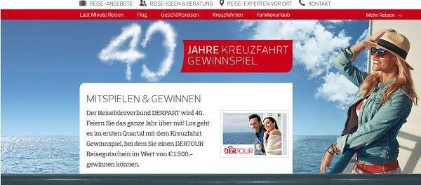 DERPART Gewinnspiel Kreuzfahrt Reisegutschein gewinnen