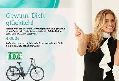 E-Bike Gewinnspiel Bon Prix Versand 4.000 Euro Gutschein