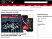 EMP Gewinnspiel Apple iPhone X und Konzerttickets