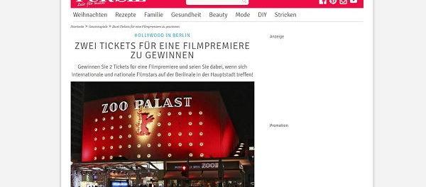 Für Sie Gewinnspiel Berlinale Filmpremiere Reise