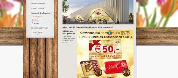 Ferrero Gewinnspiel Klaas und Kock Einkaufsgutscheine