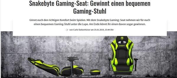 Gamez Gewinnspiel Snakebyte Gaming-Stuhl gewinnen