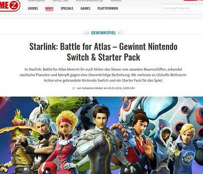 Gamez Magazin Gewinnspiel Nintendo Switch Spielkonsole Starter Paket