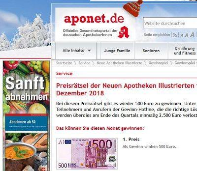 Geld Gewinnspiel Neue Apotheken Illustrierte 500 Euro gewinnen