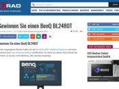 Gewinnspiel Prad verlost 24 Zoll Benq Monitor