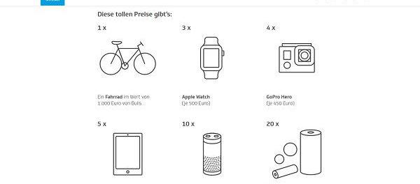 Gewinnspiel Techniker Krankenkasse Fahrrad, Apple Watch, iPad uvm.
