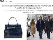 Jolie Gewinnspiel Picard Handtasche und 7. Staffel Suits