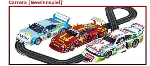 Kino News Gewinnspiel Carrera Rennbahn DRM Retrorace