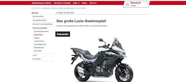 Louis Motorrad Gewinnspiel 2019 Kawasaki Versys 1000