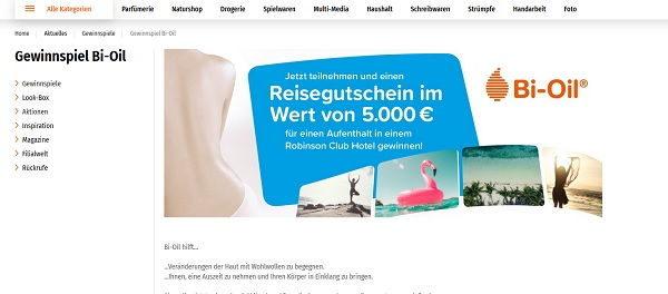 Müller Drogerie Gewinnspiel 5.000 Euro TUI-Reisegutschein