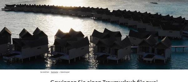 Malediven Urlaub Gewinnspiel Mövenpick Hotel´s und Ressorts