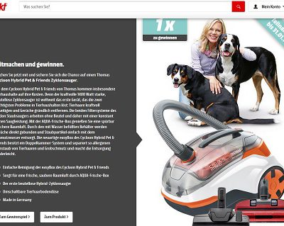 Media Markt Gewinnspiele Cycloon Hybrid Pet & Friends Zyklonsauger