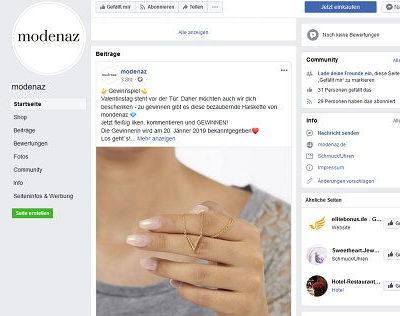 Modenaz Schmuck Gewinnspiel Halskette gewinnen