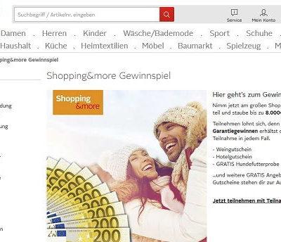 Otto Shopping Gewinnspiel 8.000 Euro Bargeld