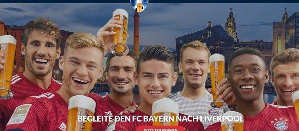 Paulaner Gewinnspiel FC Bayern Liverpool Reise gewinnen