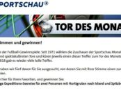 Reise Gewinnspiel Sportschau Tor des Monats Dezember 2018