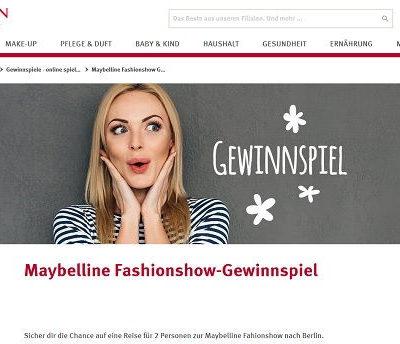 Rossmann Gewinnspiel Maybelline Fashionshow Berlin Reise