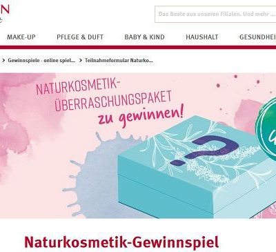 Rossmann Naturkosmetik Gewinnspiel 300 Überraschungspakete